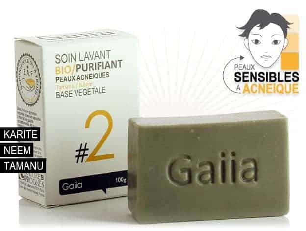 soint lavant Gaiia pour peaux acneiques