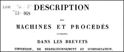 Brevet Louis Favre pour un savon Pur olive produit « Simplement et naturellement, sans le secours du feu », 1828