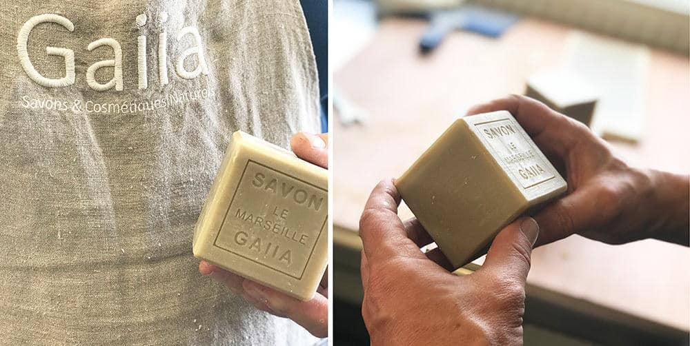 fabrication du savon de Marseille à la savonnerie Gaiia - saponification à froid