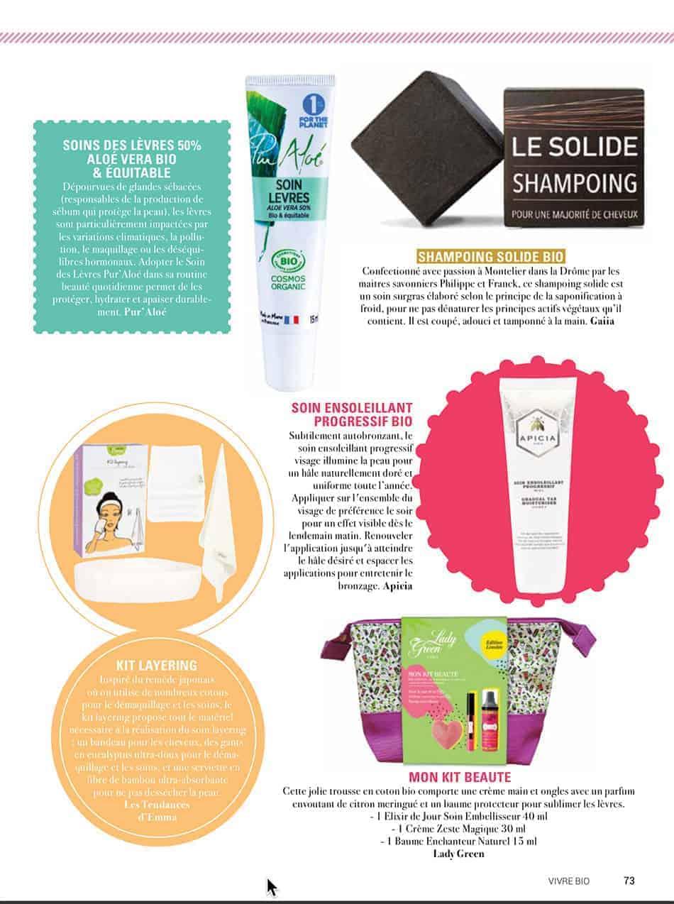 notre shampoing solide dans vivre bio magazine de. Black Bedroom Furniture Sets. Home Design Ideas