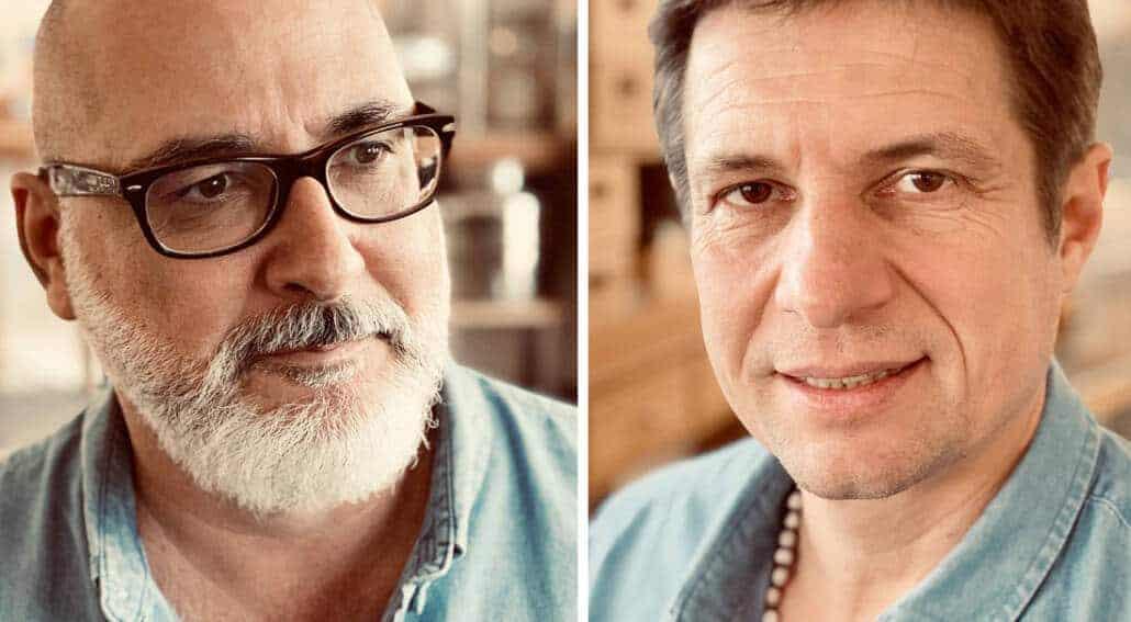 Franck PEIFFER et Philippe MARADAN les co-fondateurs de la Savonnerie Gaiia