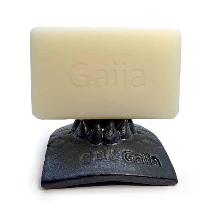 Porte savon Organum noir avec savon Gaiia